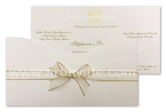 Convite de casamento Madri MD 033