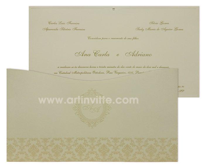 Convite de casamento Madri MD 038