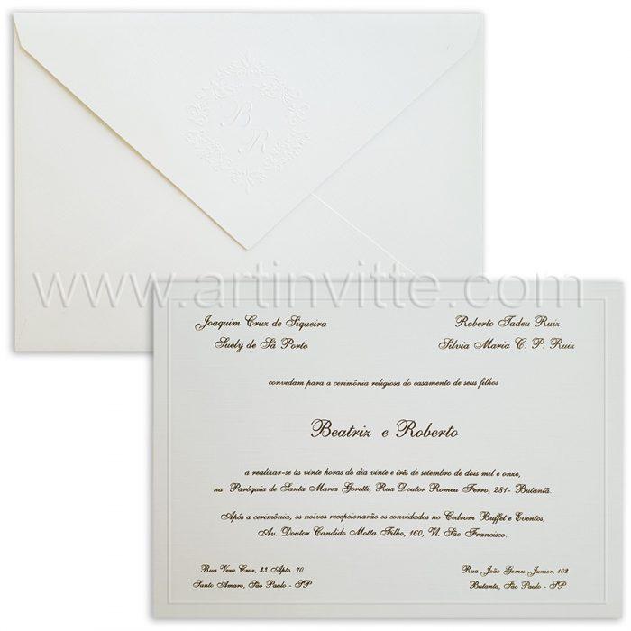Convite de casamento Tradicional Cancun CN 005