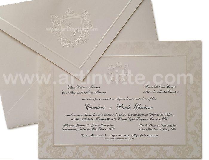 Convite de Casamento Toronto TT 026