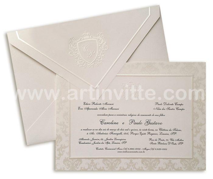 Convite de casamento TT 026