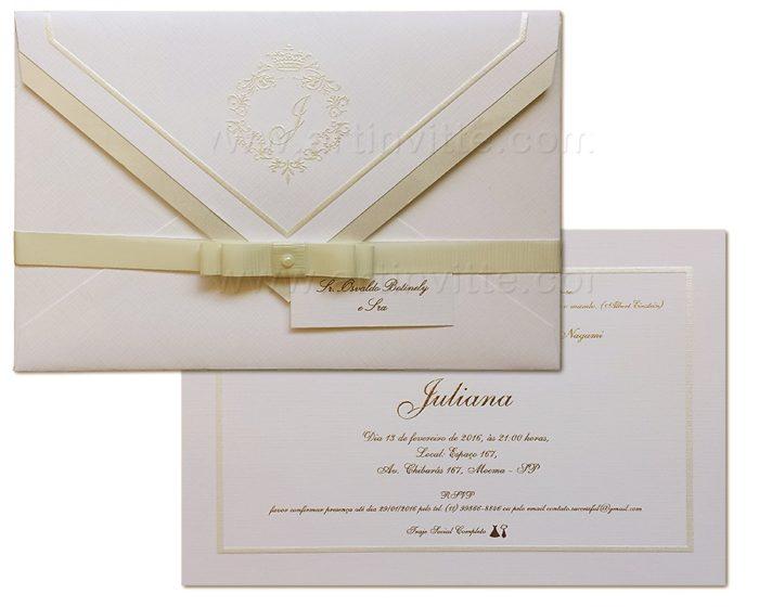 Convite de casamento tradicional Toronto TT 029