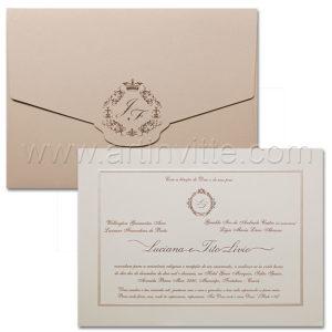 Convite de casamento Toronto TT 042 - Art Invitte Convites