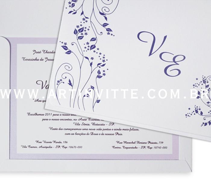 Convite de casamento Orlando OR 002