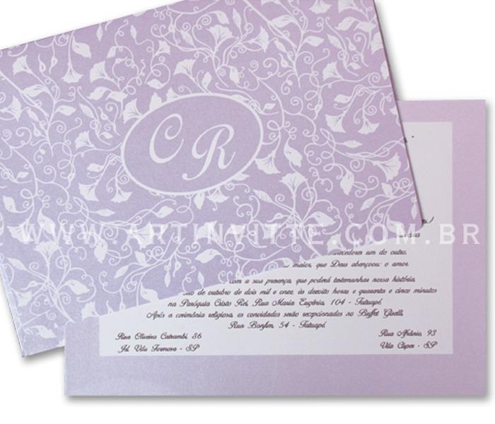 Convite de casamento Orlando OR 003