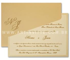 Convite de casamento versátil Orlando OR 0041