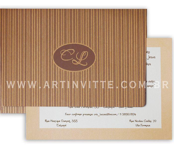 Convite de casamento Orlando OR 005