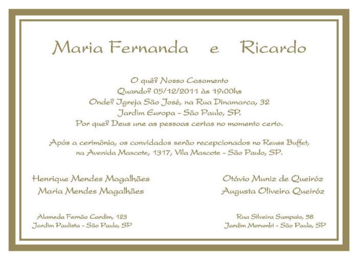 Texto para convite de casamento TC 15