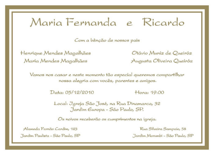 Texto para convite de casamento TC 17