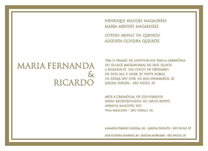 Texto para convite de casamento TC 21