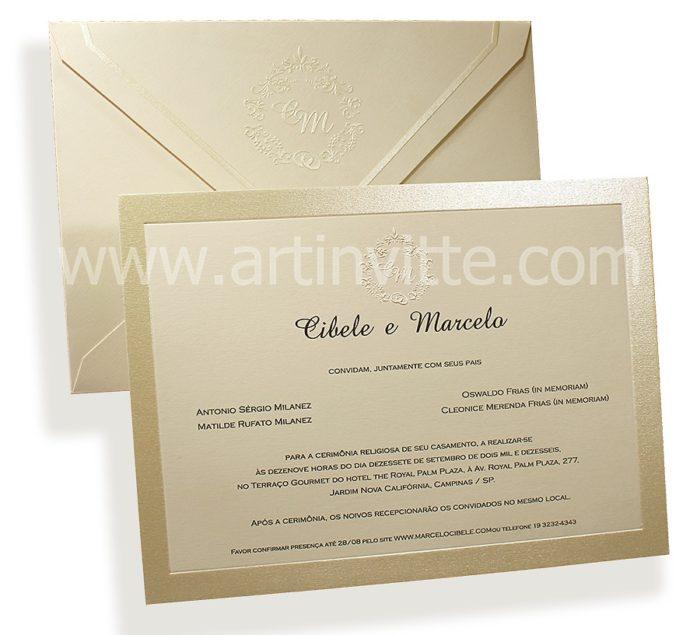 Convite de casamento Modelo Veneza VZ 041