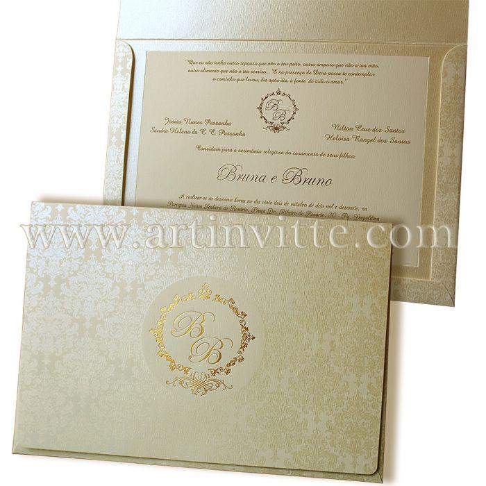 Convite de Casamento Art Invitte Convites