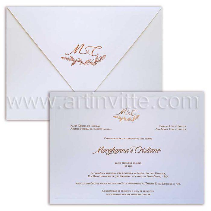 convite de casamento sofisticado Veneza VZ 069