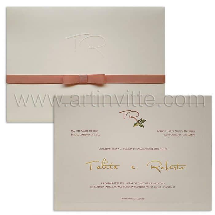 Convite de casamento clássico VZ 070