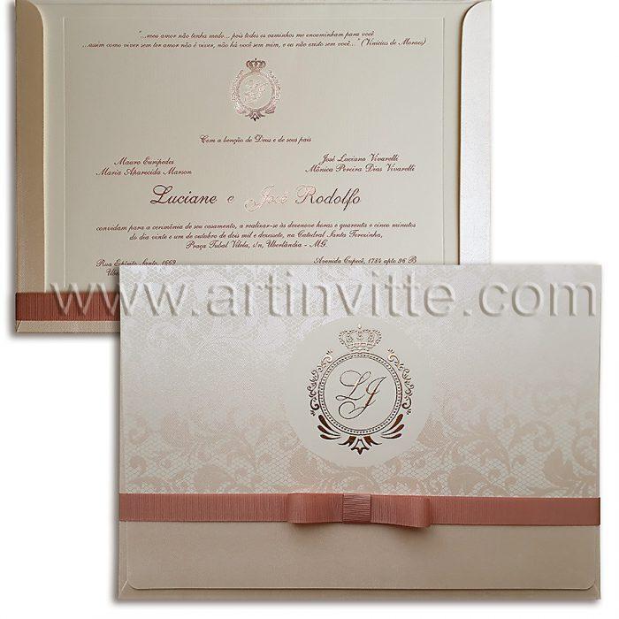 Convite de casamento tradicional, Veneza VZ 075