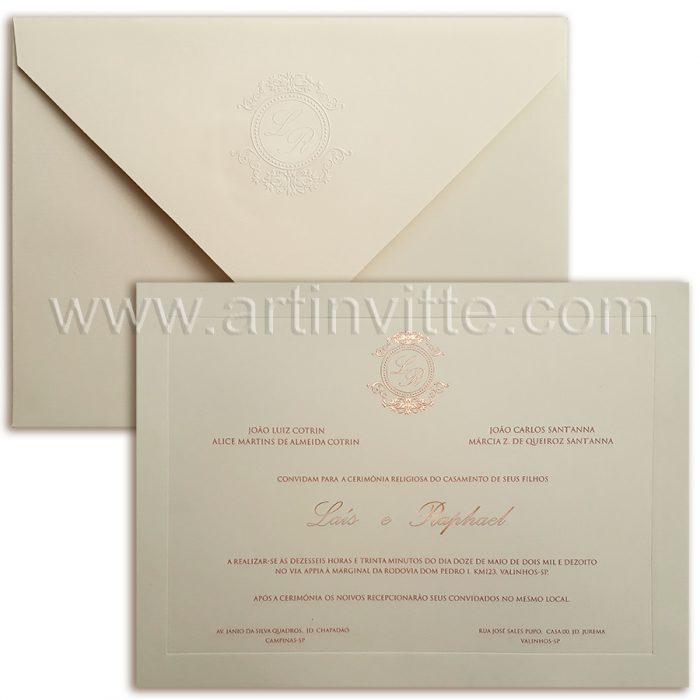 Convite de casamento Tradicional Veneza-VZ-080-sf-cl