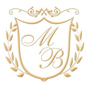 Brasão para convite de casamento modelo 02 - Art Invitte Convites
