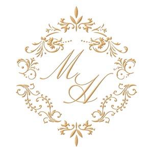 Brasão para convite de casamento modelo 04 - Art Invitte Convites