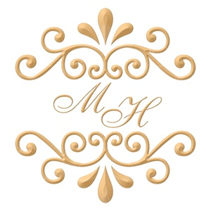 Brasão para convite de casamento modelo 06 - Art Invitte Convites
