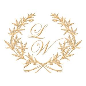 Brasão para convite de casamento modelo 102 - Art Invitte Convites