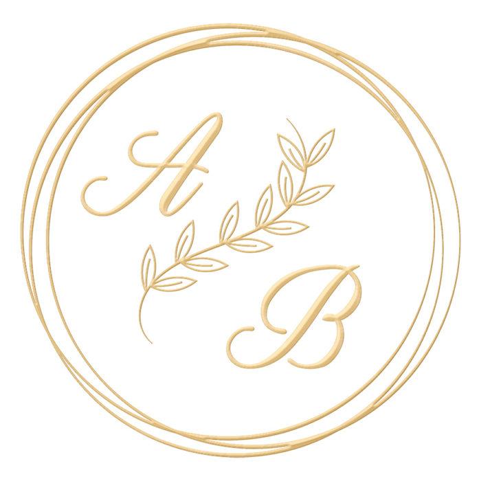 Brasão para convite de casamento modelo 112 - Art Invitte Convites