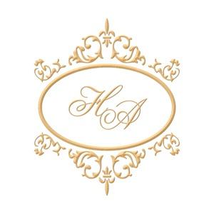 Brasão para convite de casamento modelo 15 - Art Invitte Convites