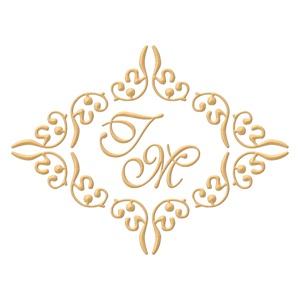 Brasão para convite de casamento modelo 28 - Art Invitte Convites