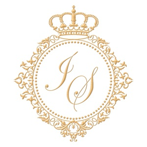Brasão para convite de casamento modelo 77 - Art Invitte Convites