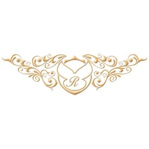 Brasão para convite de casamento modelo 89 - Art Invitte Convites