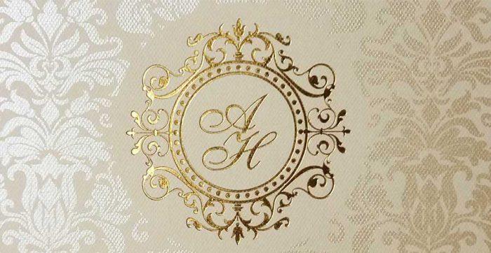 Brasões e monogramas para convites de casamento