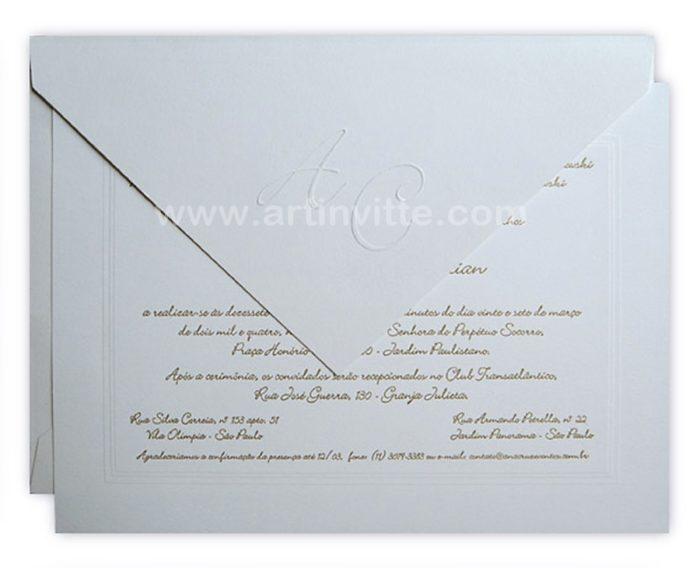 Convite de casamento Amsterdã AM 001