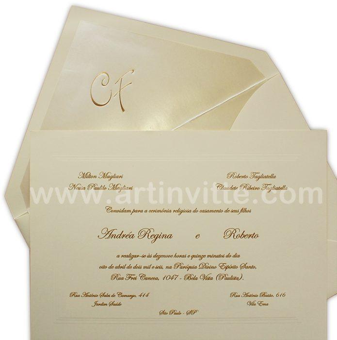 Convite de casamento Amsterdã AM 002