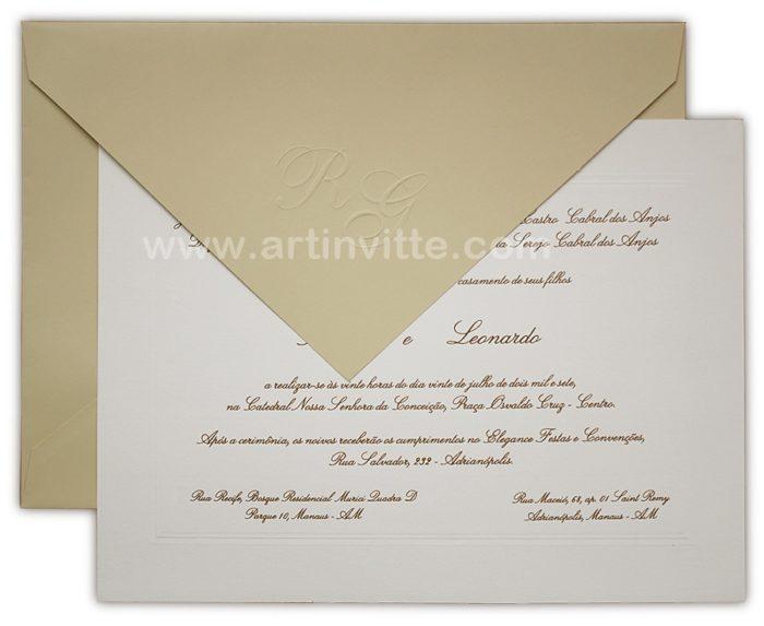 Convite de casamento Amsterdã AM 003