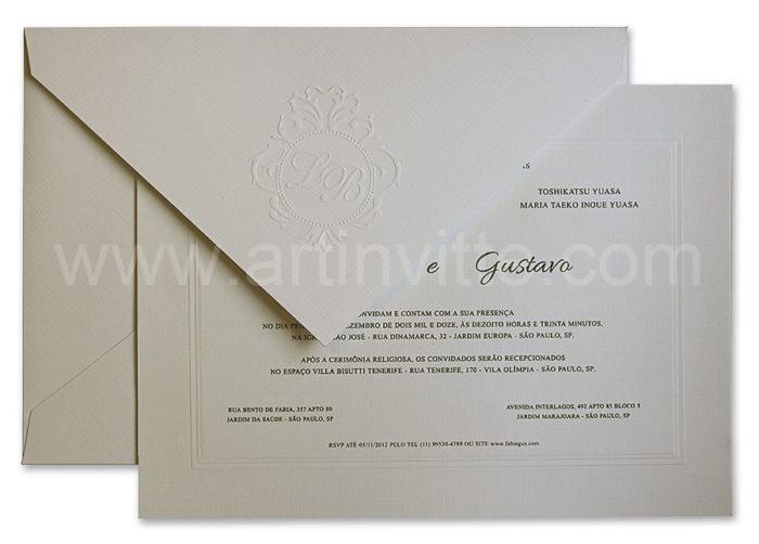 Convite de casamento Amsterdã AM 005