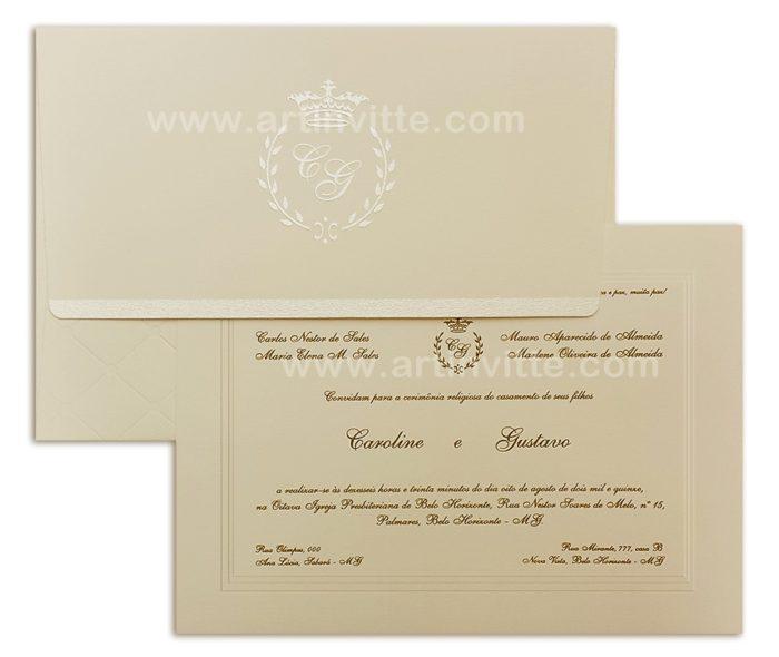 Convite de casamento Amsterdã AM 008