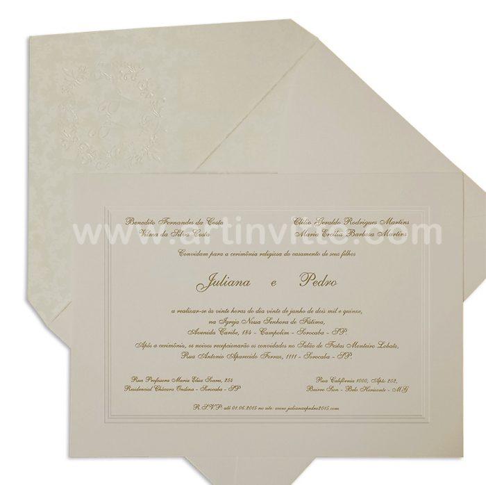 Convite de casamento Amsterdã AM 007