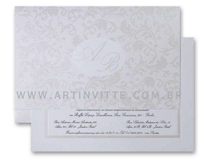 Convite de Casamento Capri CP 002