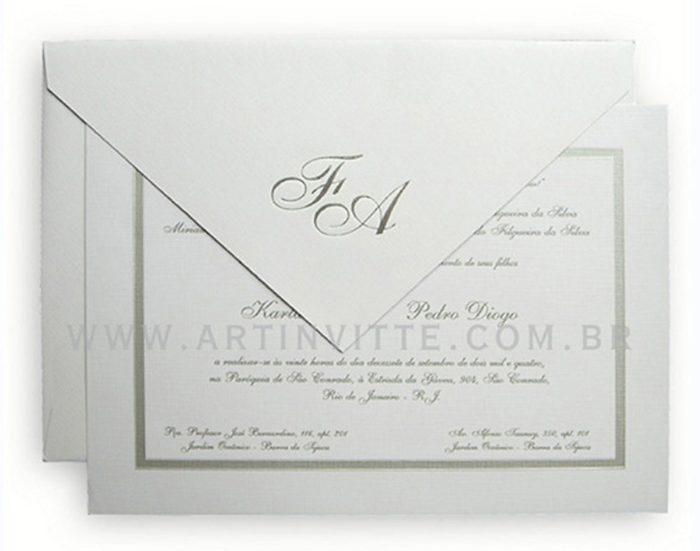 Convite de casamento Capri CP 005