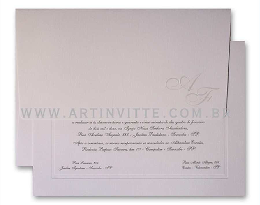 Convite de Casamento Capri CP 007