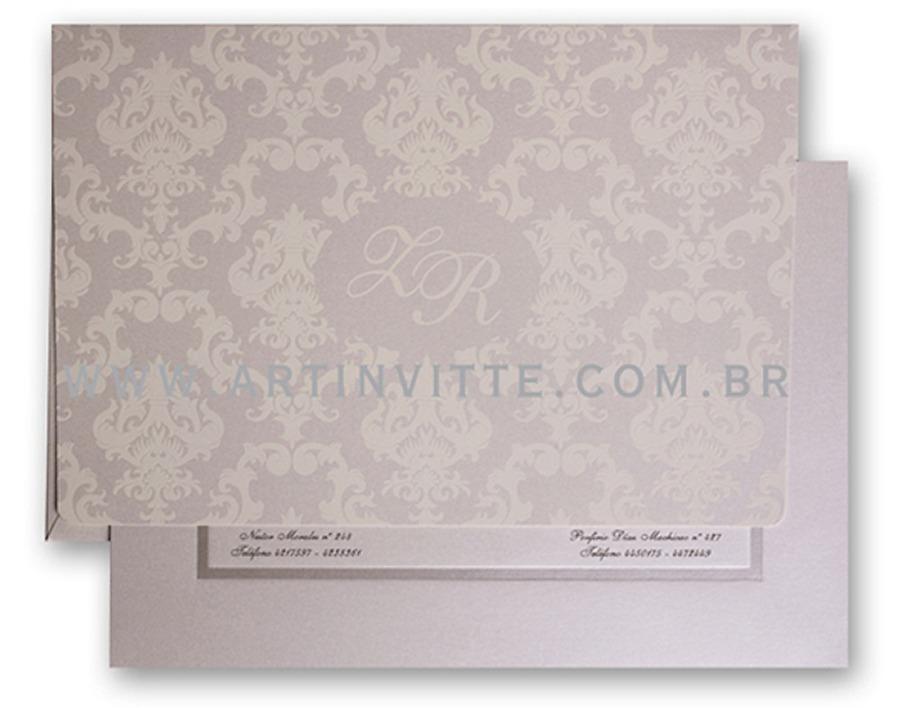 Convite de casamento Capri CP 009