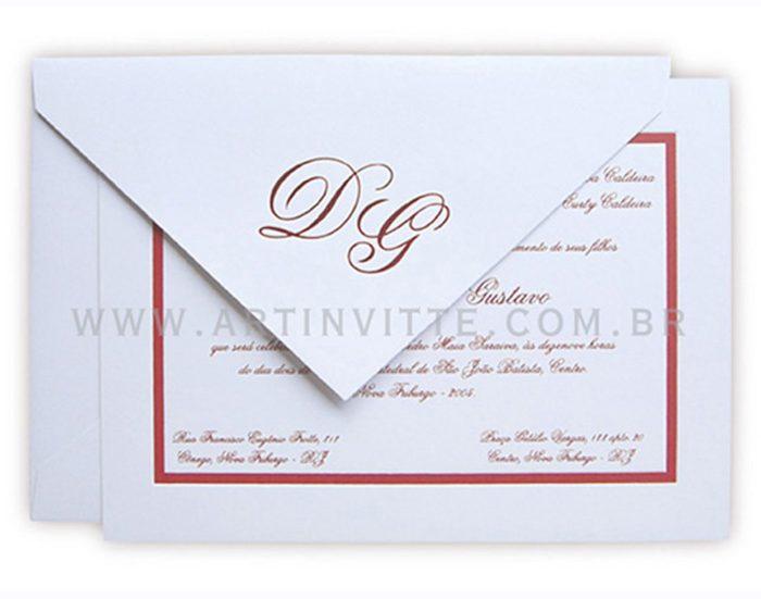 Convite de Casamento Capri CP 010