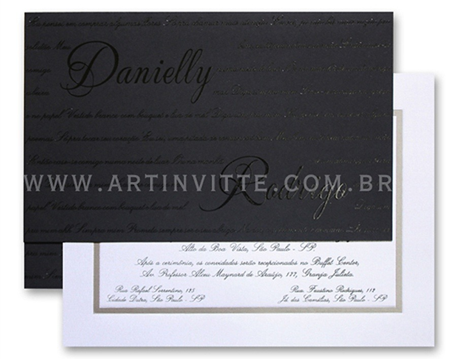 Convite de casamento Capri CP 011