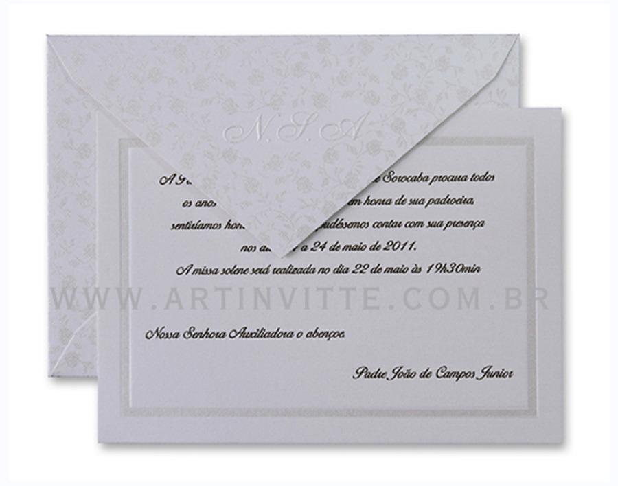 Convite de casamento Capri CP 015
