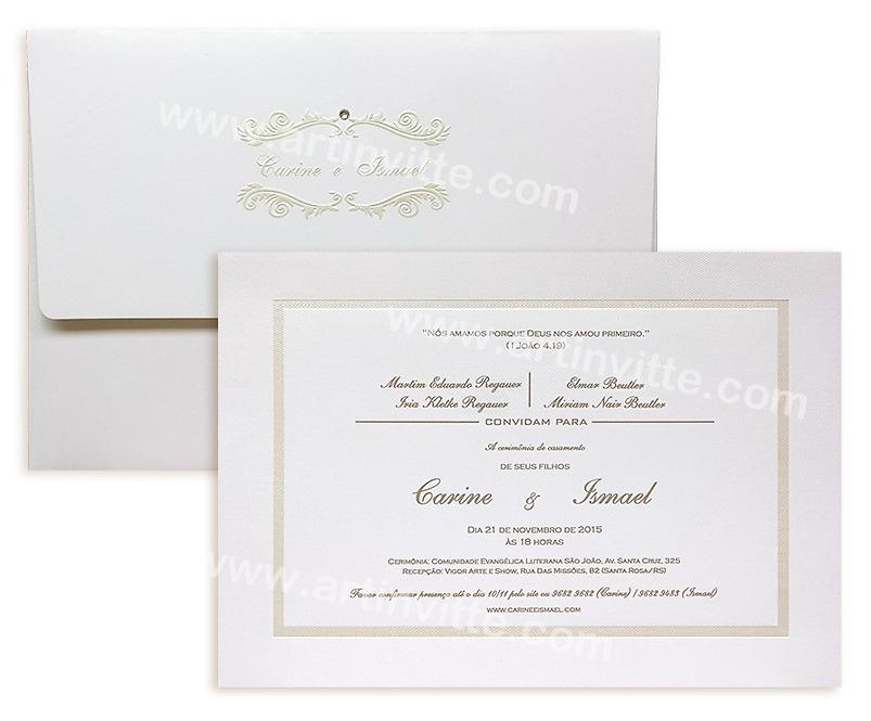 Convite de casamento Capri CP 019