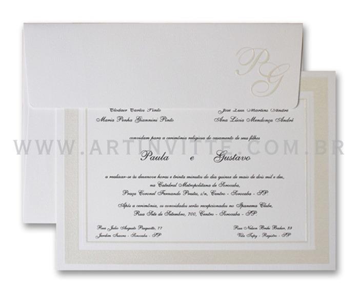 Convite de casamento tradicional Cozumel CZ 004