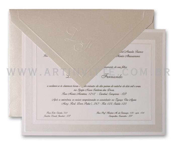 Convite de casamento tradicional Cozumel CZ 005