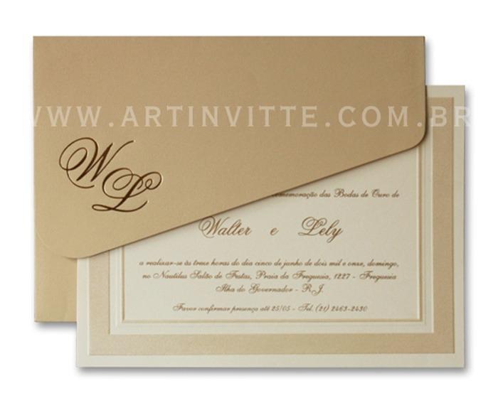 Convite de casamento tradicional Cozumel CZ 010