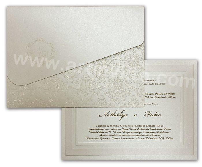 Convite de casamento Cozumel CZ 019