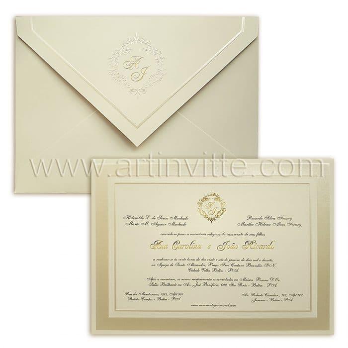 Convite de casamento tradicional Cozumel CZ 020