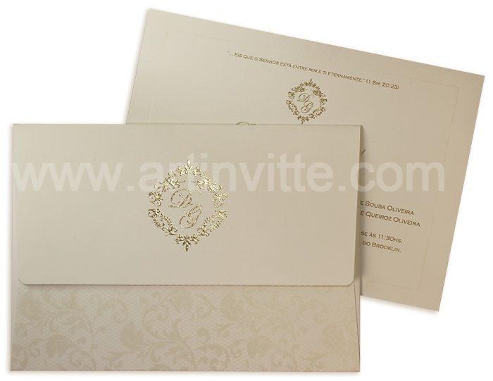 Convite de Casamento Clássicos 2